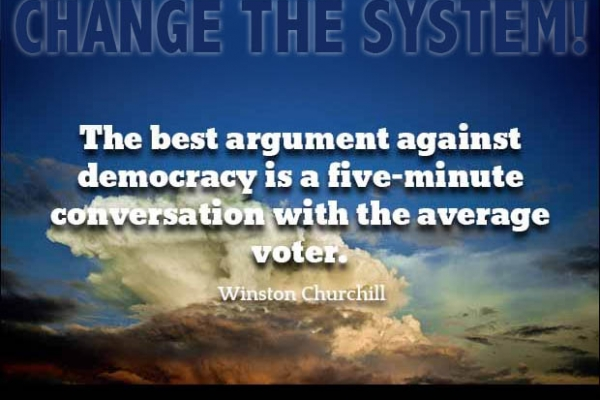 Change the system with democratic technology